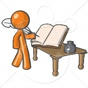 clipart-illustration-of-orange-man-writer-penning-a-book-writing-of-information.jpg